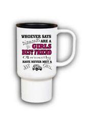 15 oz Travel Mug Coffee cup whoever said diamonds girls best friend jeep girl