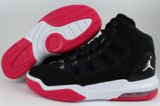 Nike Air Jordan Max Aura Negro/Blanco/Rush Rosa Retro 10 11 Mujeres Niñas Tamaño de la Juventud
