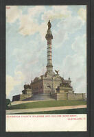 1900s CUYAHOGA COUNTY SOLDIERS AND SAILORS MONUMENT CLEVELAND OHIO UDB POSTCARD