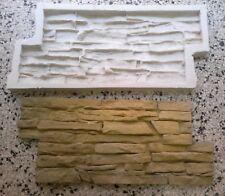 STAMPO calco in gomma per gesso cemento finta pietra rivestimento murale roccia