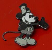 Used SMALL Disney Enamel Pin Badge Black & White Mickey Mouse