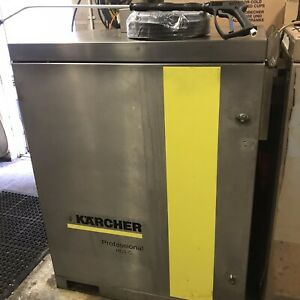 KARCHER HDS 7/11 STAINLESS CABINET HOT COLD PRESSURE WASHER JET WASH 240V VGC
