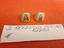 Vintage Gumball/Vending Religous Flicker Rings Lot Of 2