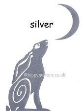 Silver Moon gazing Hare car sticker decal caravan graphics camper van transfer