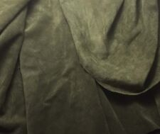 SUEDE Olive Green Lambskin Leather Hide Piece #45 6x10""