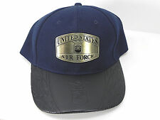 United States Air Force Hat Dark Navy Black Silver Metal Logo Unisex Cap New