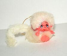 Vintage Small furry White Monchhichi Doll ? Korea 1970s New NOS