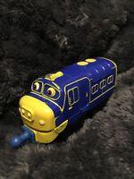 Chuggington Brewster Diecast Train Engine Blue Yellow Learning Curve 2010