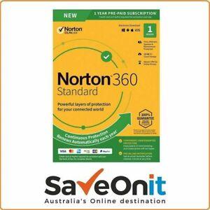 Norton 360 Standard 1,2,3  Devices Internet Security VPN  2021 + Bonus 60 day
