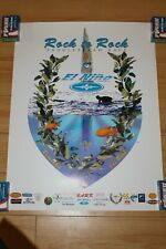 Joe Bark Paddleboard Race Rock El Nino Vintage 1998 12x18in. Surfing Poster