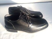Jarman Mens Size 8 M Oxford Shoes Black Leather Lace Up