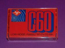 AGFA LOW NOISE C60 RED. RARA CASSETTE AUDIO VERGINE TAPE BLANK NUOVA !
