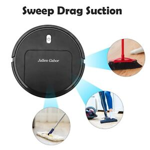 Smart Automatic Robotic Vacuum Cleaner Robot Edge Sweeper Machine  Rechargeable