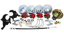 "DELUXE 1967-72 CHEVY CHEVELLE POWER FRONT & REAR 4 WHEEL DISC BRAKE KIT, 2"" DROP"