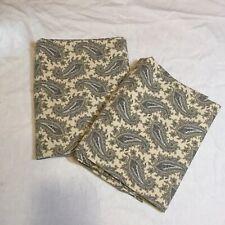 2 Pillowcases Lauren Ralph Lauren Grey Paisley 100% Cotton
