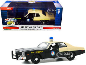 "1978 PLYMOUTH FURY BLACK & YELLOW ""FLORIDA HIGHWAY PATROL"" 1/24 GREENLIGHT 85512"