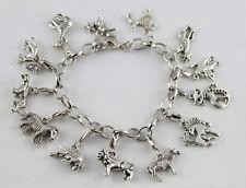 3PCS BRACELETS Tibetan Silver Color Animal Charm Bracelets