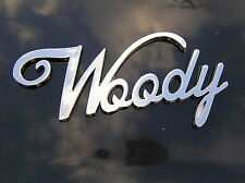 WOODY CAR BADGE Chrome Metal Emblem *NEW & UNIQUE suit FORD HOLDEN Station Wagon