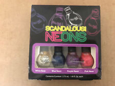 NICOLE by OPI 4pc Nail SCANDALOUS! NEONS Polish Mini Set