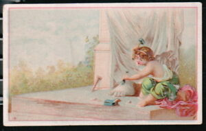ACME OIL CO Axle Grease Harness Coach Vtg Victorian Trade Card Child Sculptor