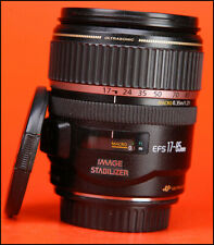 Canon EF-S 17-85mm F4-5.6 IS Image Stabilizer USM + Front & Rear Lens Caps