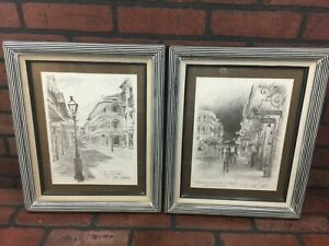 Vintage French Quarters New Orleans Wall Art Signed Print