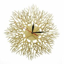 Engraved Wood Wall Clock Forest Life Wooden Watch Nature Art Home Decor Timer
