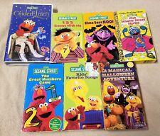 Lot 7 SESAME STREET - ELMO Vhs Video Tapes Golden Book Stories FAVORITE SONGS +