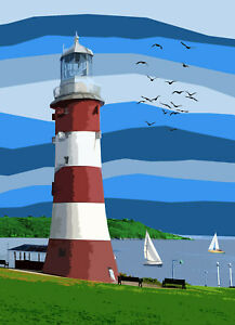 Smeaton's Tower Lighthouse Plymouth Devon Limited Art Print By Sarah Jane Holt