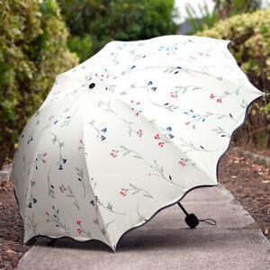 3 Folding Anti-UV Sun Rain Umbrella Windproof Protection Parasols Waterproof US