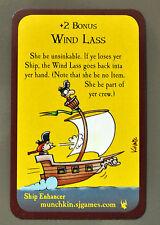 Munchkin Booty Promo Card Wind Lass John Kovalic Art Steve Jackson Games