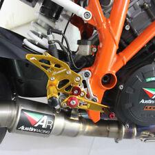 2014-2017 KTM 1290 SUPER DUKE R Rearsets Foot Pegs Footrest Rear Set Sets GOLD