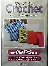 THE ART OF CROCHET- GETTING STARTED DVD, R-ALL, NEW, FREE POST IN AUSTRALIA