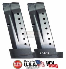 2 PACK ProMag Smith &Wesson M&P Shield 9mm Extended 8 Round Magazine SMI27 NEW