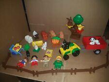 lego duplo zoo safari farm animals tractor set 304