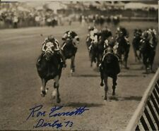 Secretariat signed 8x10 Kentucky Derby  Ron Turcotte autograph
