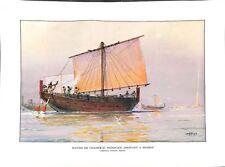 Navire de commerce phénicien Phénicie Liban Île de Pharos d'Albert Sébille 1959