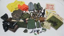 Vintage Hasbro GI Joe Accessories Lot Guns Rifles Boots Tanks Back Packs