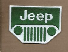 NEW 2 5/8 X 3 1/2 INCH JEEP GRILL IRON ON PATCH FREE SHIPPING P1