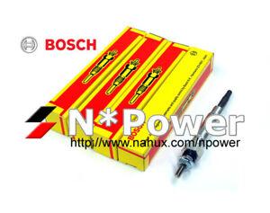 BOSCH GLOW PLUG X 4 FOR TOYOTA LAND CRUISER BJ40R DAIHATSU SCAT F50 2.5L DG