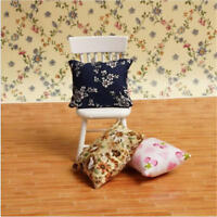 Flower Pillow Cushions For Sofa Couch Bed 1/12 Dollhouse Miniature cb