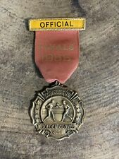 Vintage 1956 Golden Gloves Medal Lowell Sun Official Finals