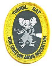 VIETNAM VETERAN - TUNNEL RAT -  IRON ON PATCH