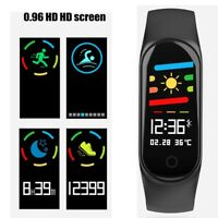 Bluetooth Heart Rate Blood Pressure Oxygen Monitor Smart Watch Fitness Tracker