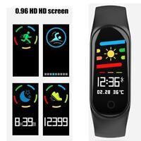 Bluetooth Heart Rate Blood Pressure Oxygen Monitor Smart Watch Fitness Tracker