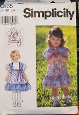 Simplicity Rare Edition pattern 9565 Toddler's Dress  size 2, 3, 4 uncut