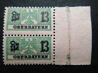 Germany Nazi 1914 - 1939 Stamps MNH Pair Eagle Revenue Overprint oberbayern WWII