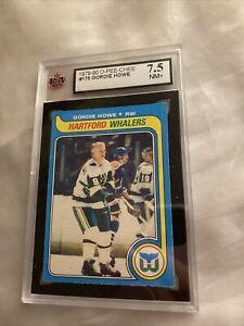 1979 80 OPC O-Pee-Chee #175 Gordie Howe KSA 7.5 NM+ Sharp  His last card