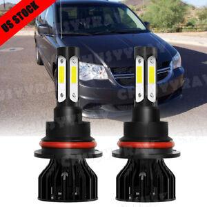 For Dodge Grand Caravan 2X 9007 HB5 Kit de faros LED Bombilla alta baja 6000K