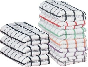 1x To 24x Pack Egyptian Cotton Super Jumbo Check Terry Tea Towels Kitchen Dish